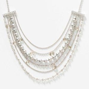 Swarovski Crystal  Silver Lining Necklace